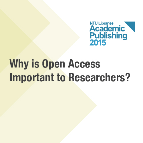3 Mar: Why is Open Access Important to Researchers
