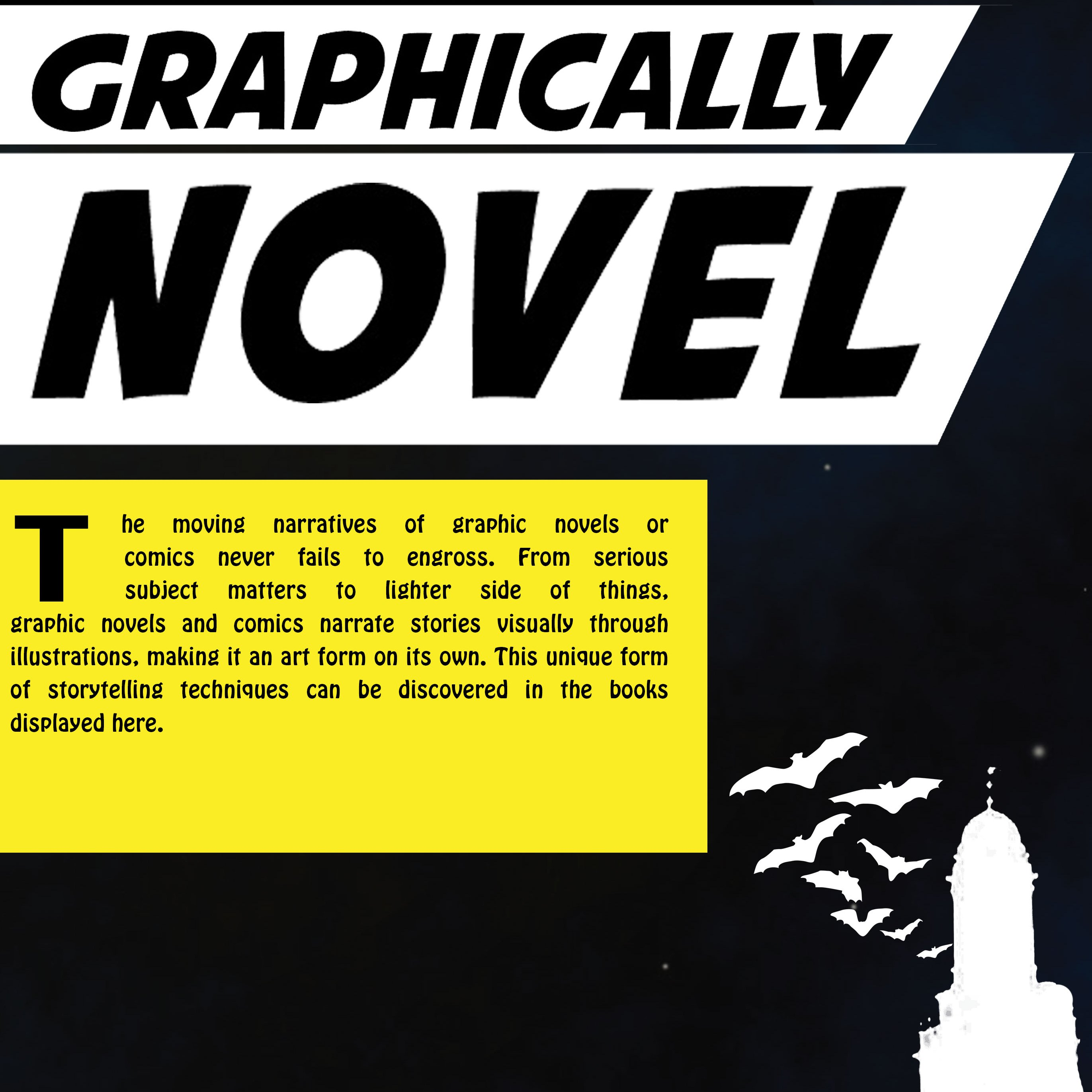 Graphically Novel Book Display @ Communication and Information Library
