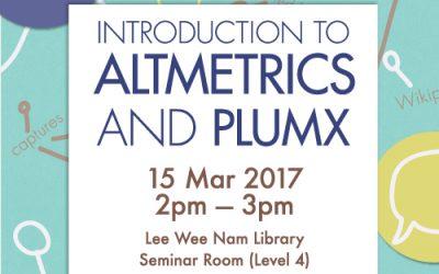 Introduction to Altmetrics and PlumX
