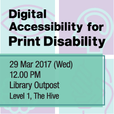 Digital Accessiblity for Print Disability