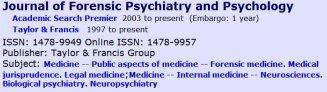 Journal-Psychology