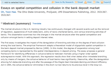 proquest dissertations and theses umich Proquest dissertations & theses (formerly known as digital dissertations) allows users horace h rackham school of graduate studies paper thesis sentences essays.