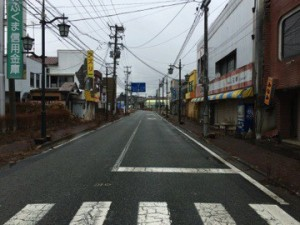 Picture.4: Namie-town collapsed by earthquake and isolated for NPP accident(March 2, 2014)