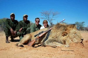 Poaching of Lions in South Africa by foreigners. Image from: http://corvinusonline.blog.hu/2014/01/05/a_vadaszat_tisztessege