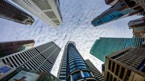 Singapore's business district 20130526