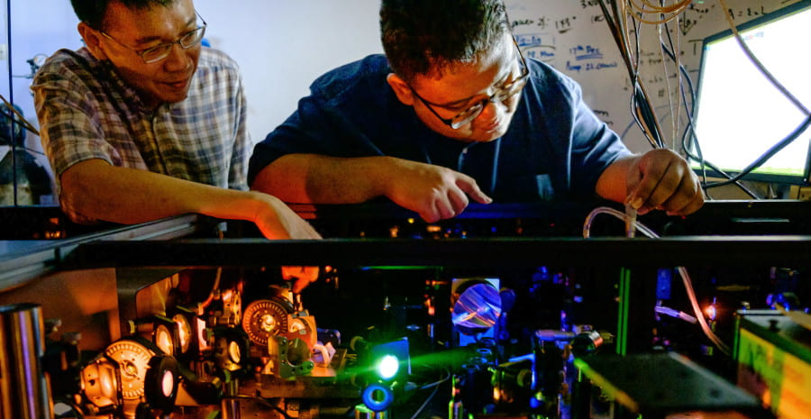 First Direct Observation of Water Radical Ions