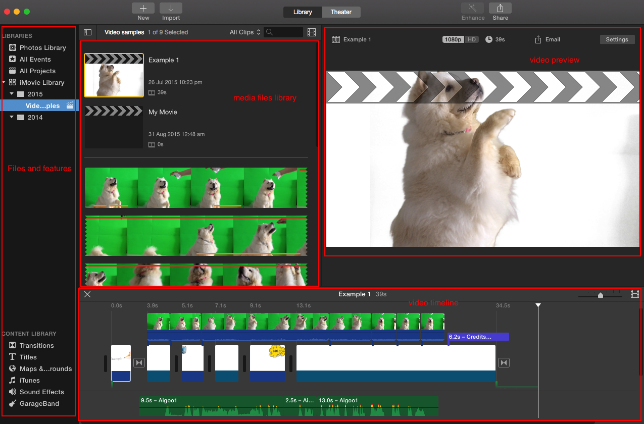 imovie dashboard 1