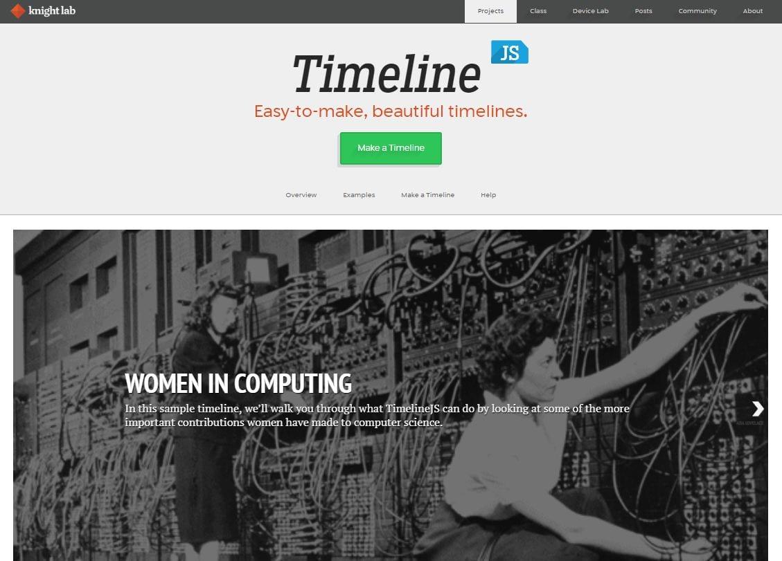 TimelineJS | NTU Digital Humanities