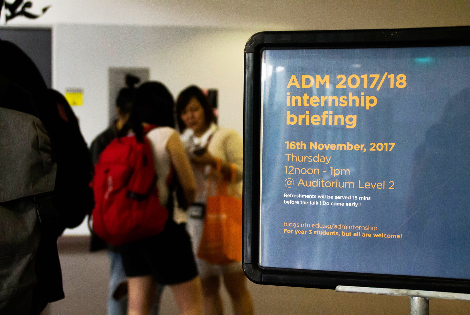 November 2017 Internship briefing