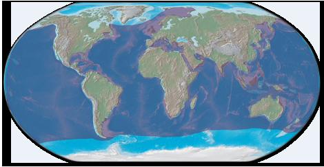Leatherback sea turtle habitat map