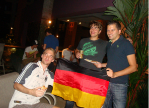 Our German hosts for the night - (Left to right) Justus, Florian, and Simon