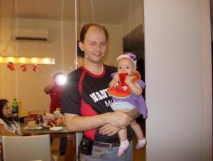 Manuel Salgado with Daughter Mariana