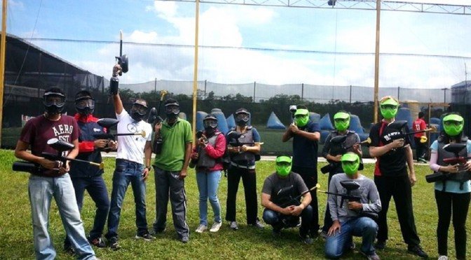"Paintball – An event whose name was later changed to ""Painball""!"