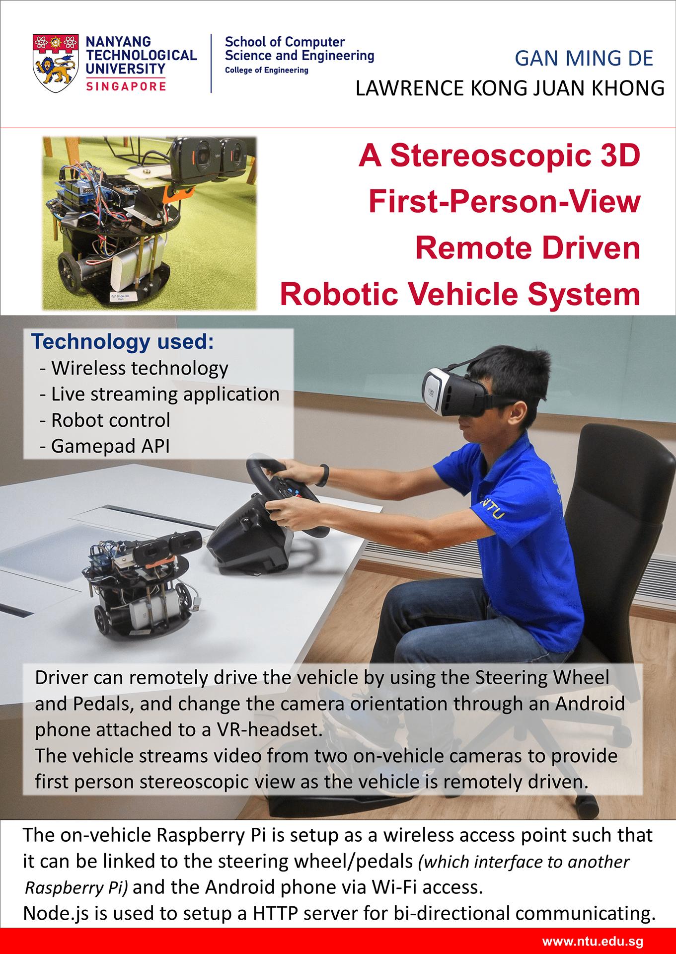 Web-based remote driven robotic vehicle