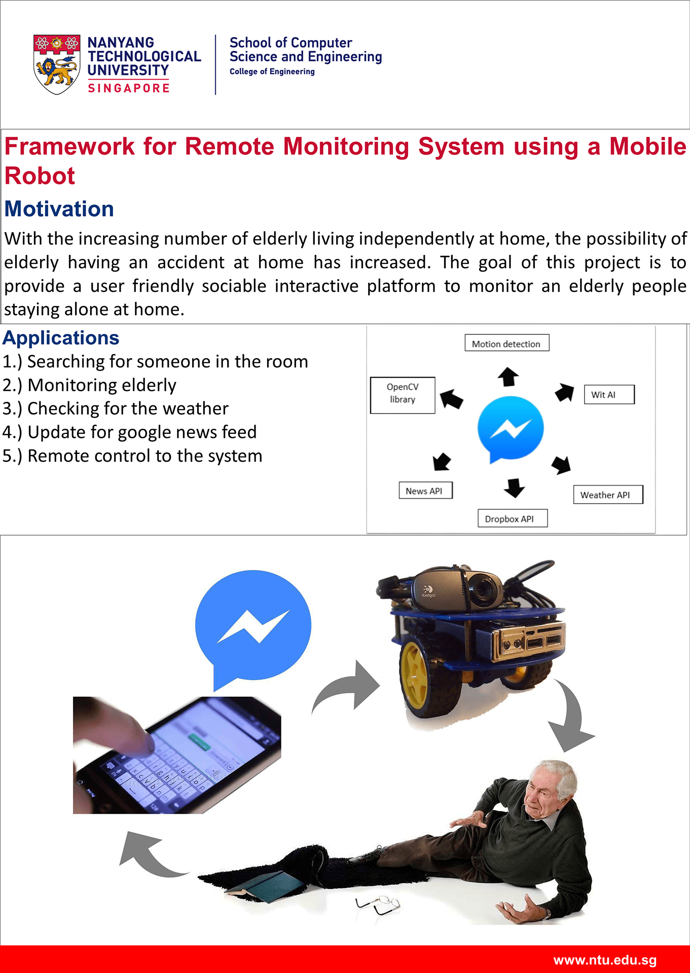 Elderly Physical Well Being SystemFramework for Remote Monitoring System using a Mobile Robot