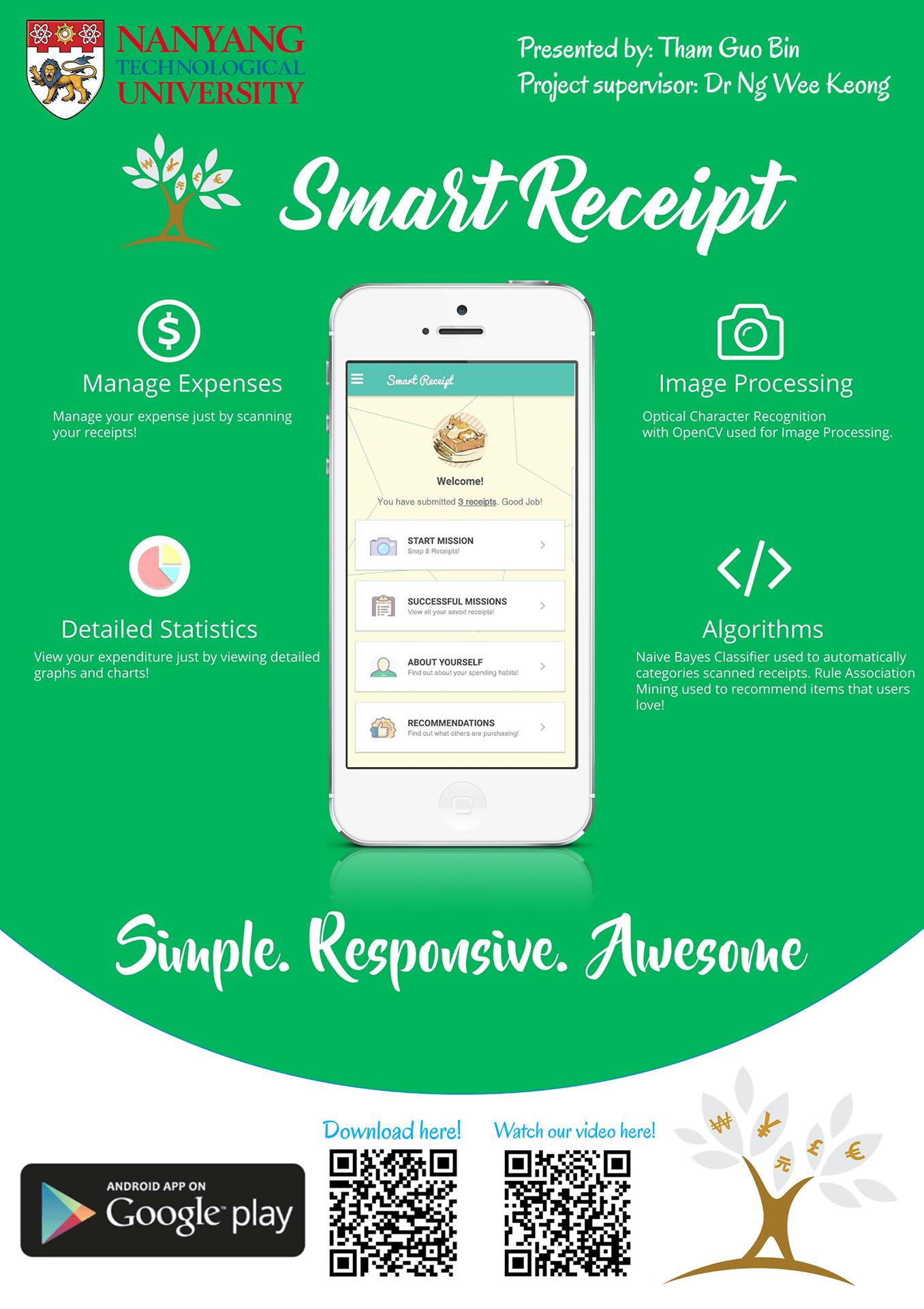 Smart receipt system - image processing, data analytics and server development