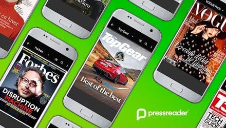 Read newspapers and magazines on the go with PressReader!