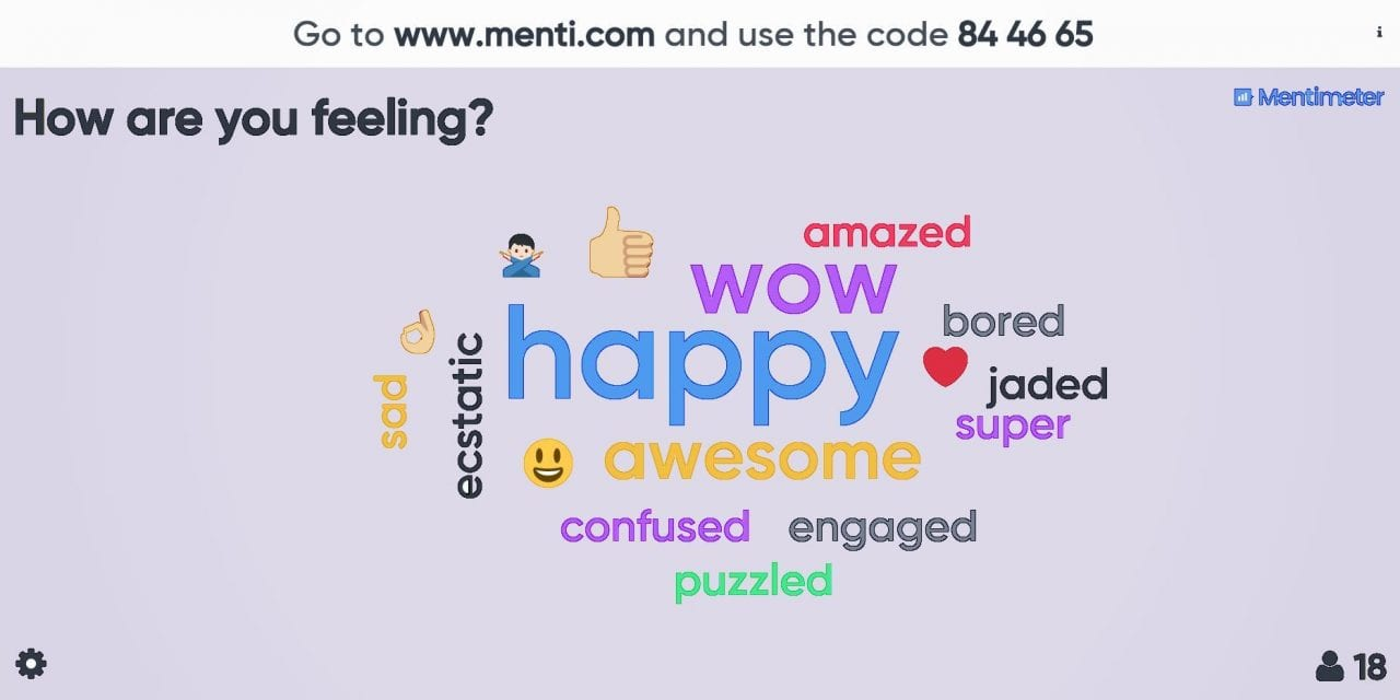 Jazzing up your presentation with Mentimeter