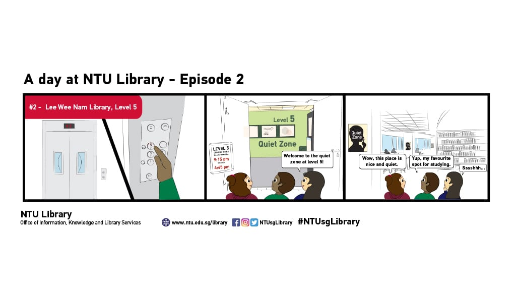 A DAY AT NTU LIBRARY EPISODE #02 – Lee Wee Nam Library, Level 5