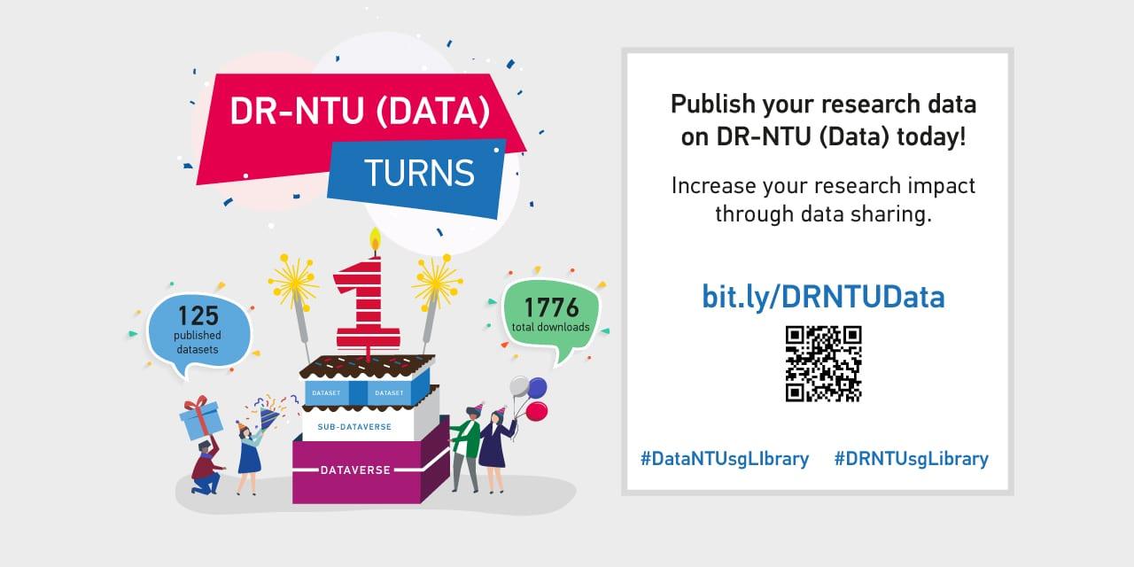 DR-NTU (Data) turns 1! Increase your research impact via data sharing