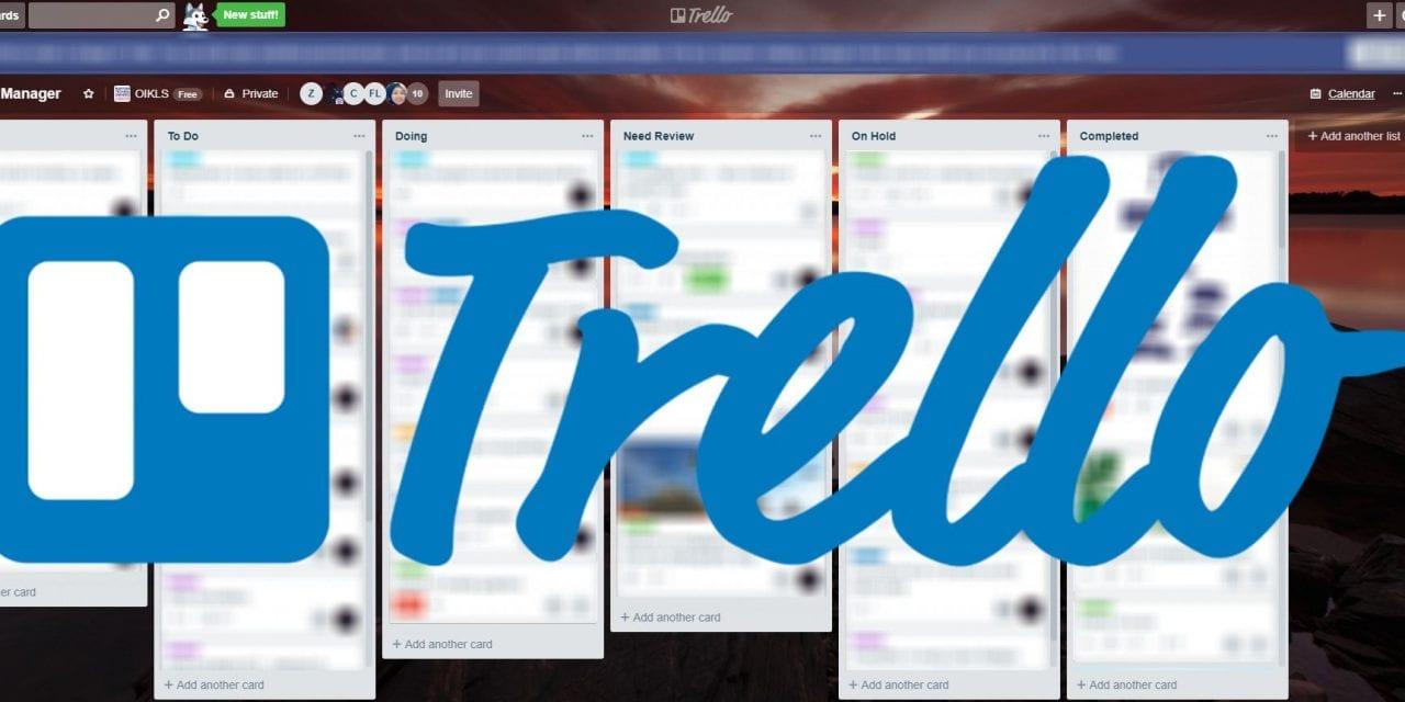 Using Trello to manage tasks