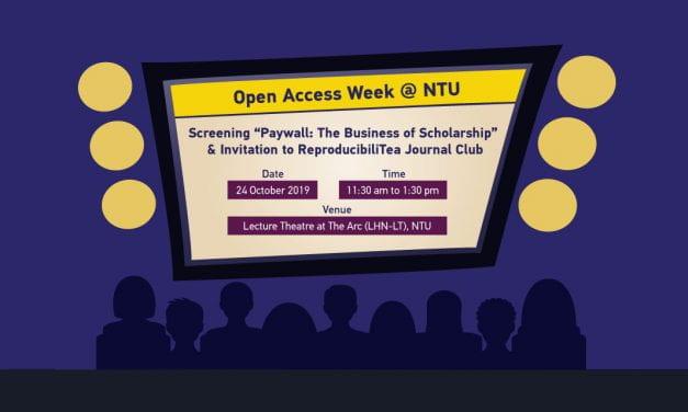 Open Access Week 2019@NTU