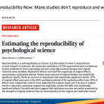 Fourth session of Singapore ReproducibiliTea journal club: Reproducibility Now – Many studies don't reproduce and why.