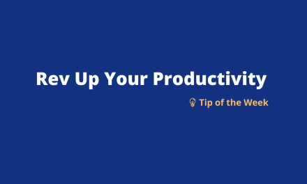Rev Up Your Productivity: Weekly Tip 1 – Using MS Teams