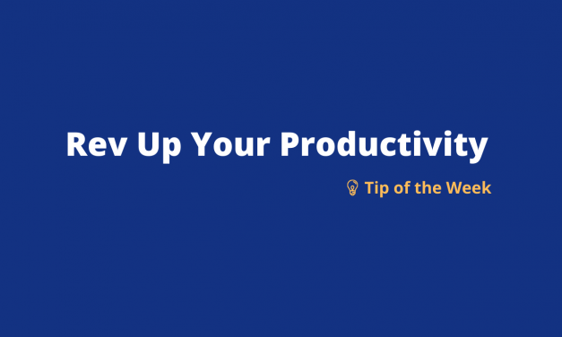 Rev Up Your Productivity: Weekly Tip 4 – Using MS Teams