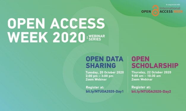 Open Access Week 2020: Webinar Series