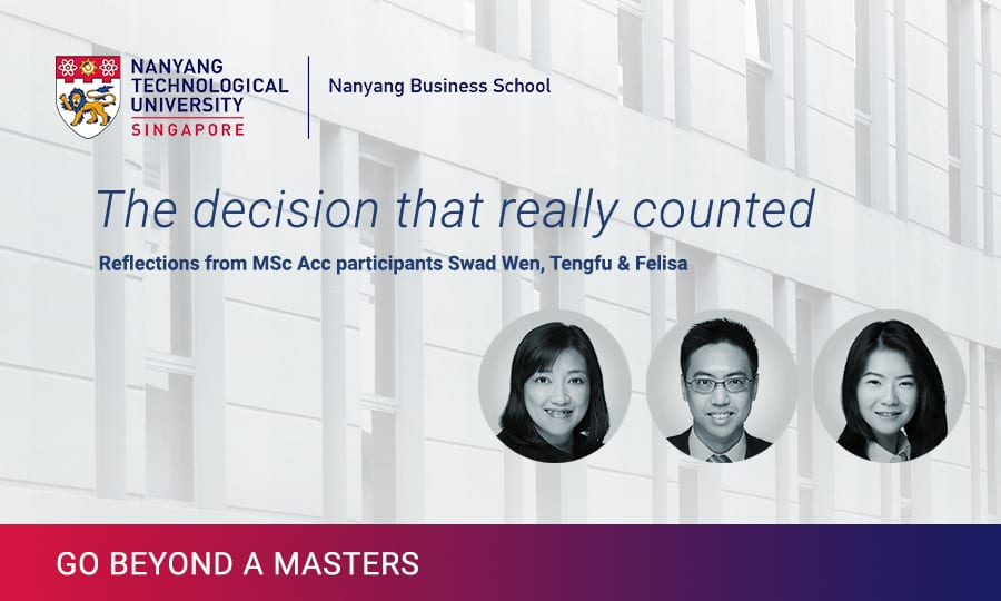 MSc Acc: Academic Rigour, Flexibility and the Opportunities