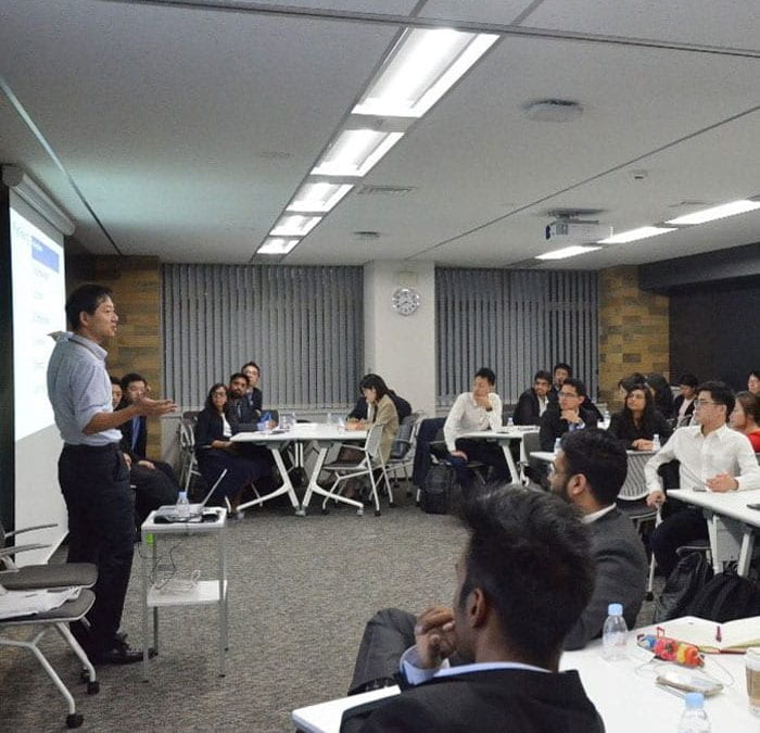 Nanyang MBA participants' visit to Mitsubishi UFJ Capital Co., Ltd.