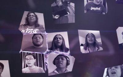 Singing in a virtual choir of 17,000 singers