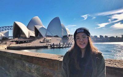 HEY! She won a trip to Australia