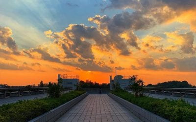 Chasing sunsets on campus