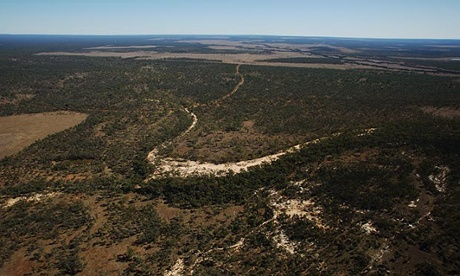 An aerial view of Galilee Basin in Queensland, Australia, site of the Carmichael Project. (Photograph by Andrew Quilty/Greenpeace/AAP) (http://www.theguardian.com/environment/2014/jul/28/largest-coal-mine-in-australia-federal-government-gives-carmichael-go-ahead)