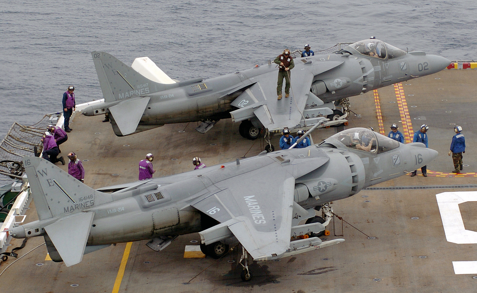 Two Harrier jump-jets of the US Marine Corps. (Taringa.net, n.d.)