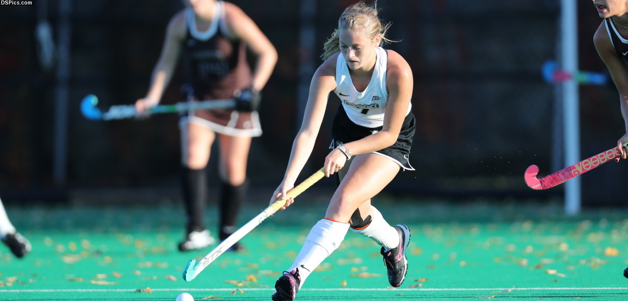 Sylvia Miller '20 brings up the ball for the Friars.