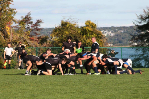 The Blackpack during a scrum.