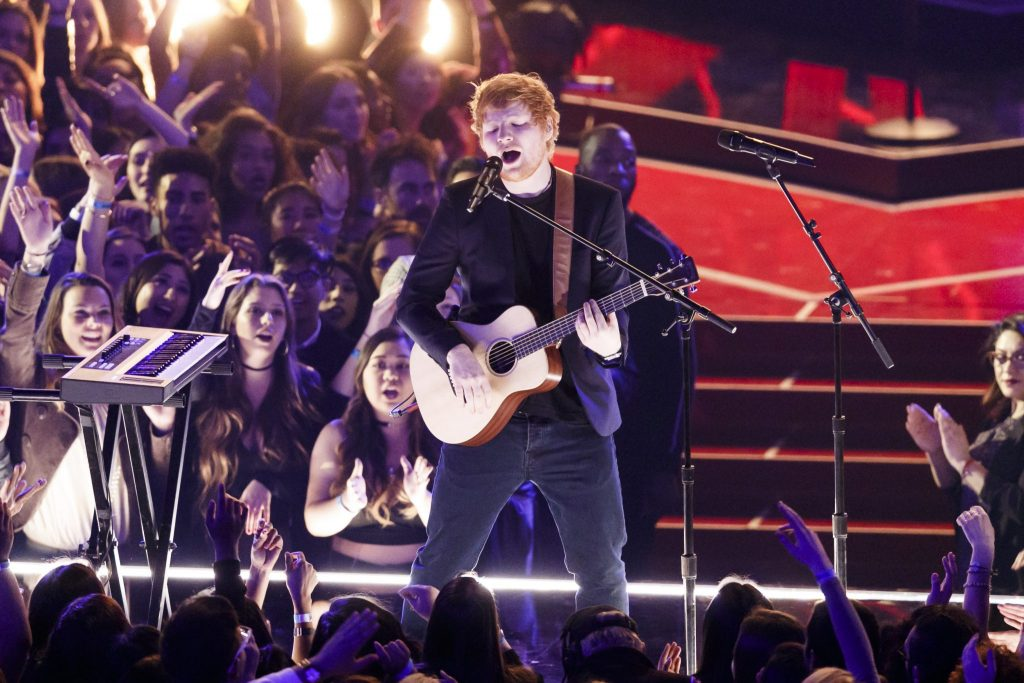 Ed Sheeran's grasp on the Singles Chart remains firm
