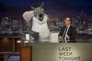 Mr. Nutterbutter guest starring on Last Week Tonight with John Oliver
