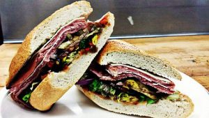 """""""The Godfather,"""" a sandwich from the restaurant Anthony's Italian Deli"""