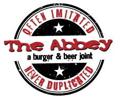 The logo for The Abbey restaurant