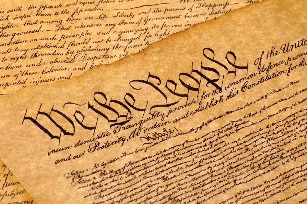 The opening words of the U.S. Constitution.
