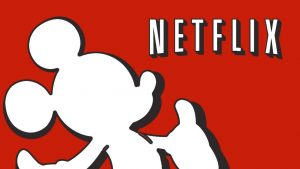 Disney Mickey Mouse and Netflix Sign