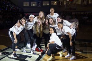 PC Women's Basketball team at Late Night Madness