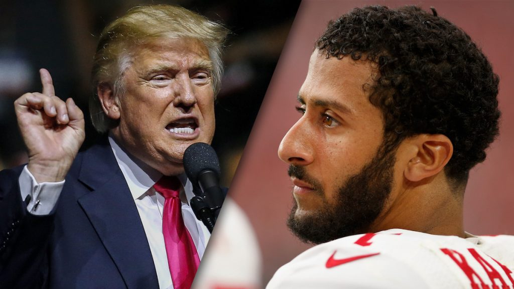 President Donald Trump and NFL player Colin Kaepernick.