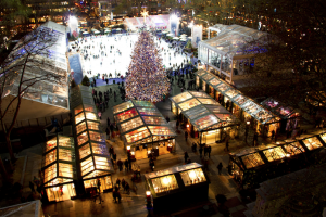 The Bryant Winter Village in New York City