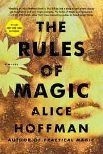 The cover for Alice Hoffman's new novel, The Rules of Magic.