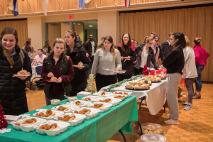 PC students enjoyed a variety of foods from across the Providence area, including LaSalle Bakery and Caserta's Pizzeria.